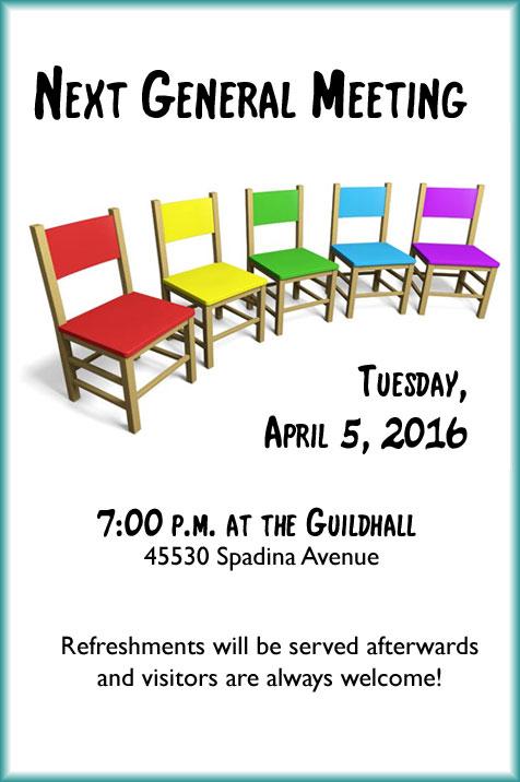 General Meeting, April 2016