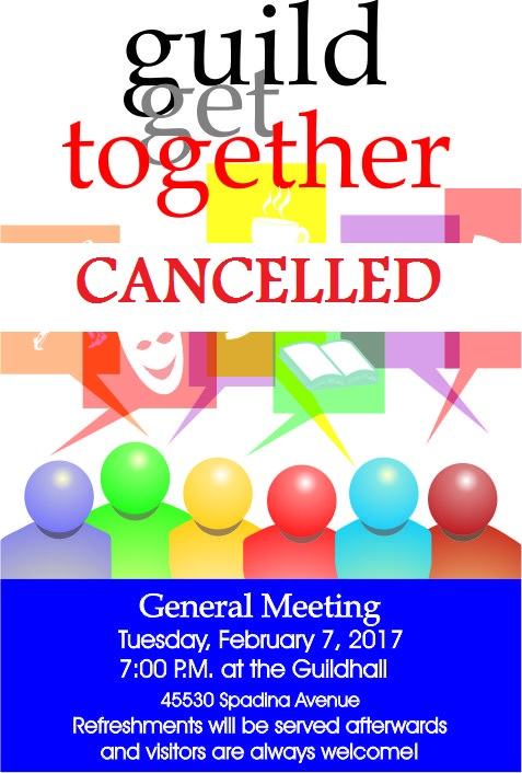 Cancelled - February General Meeting