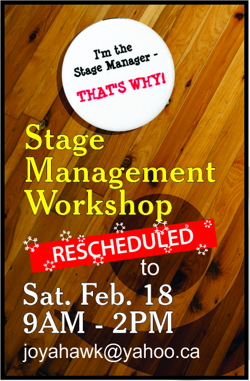 Stage Management Workshop