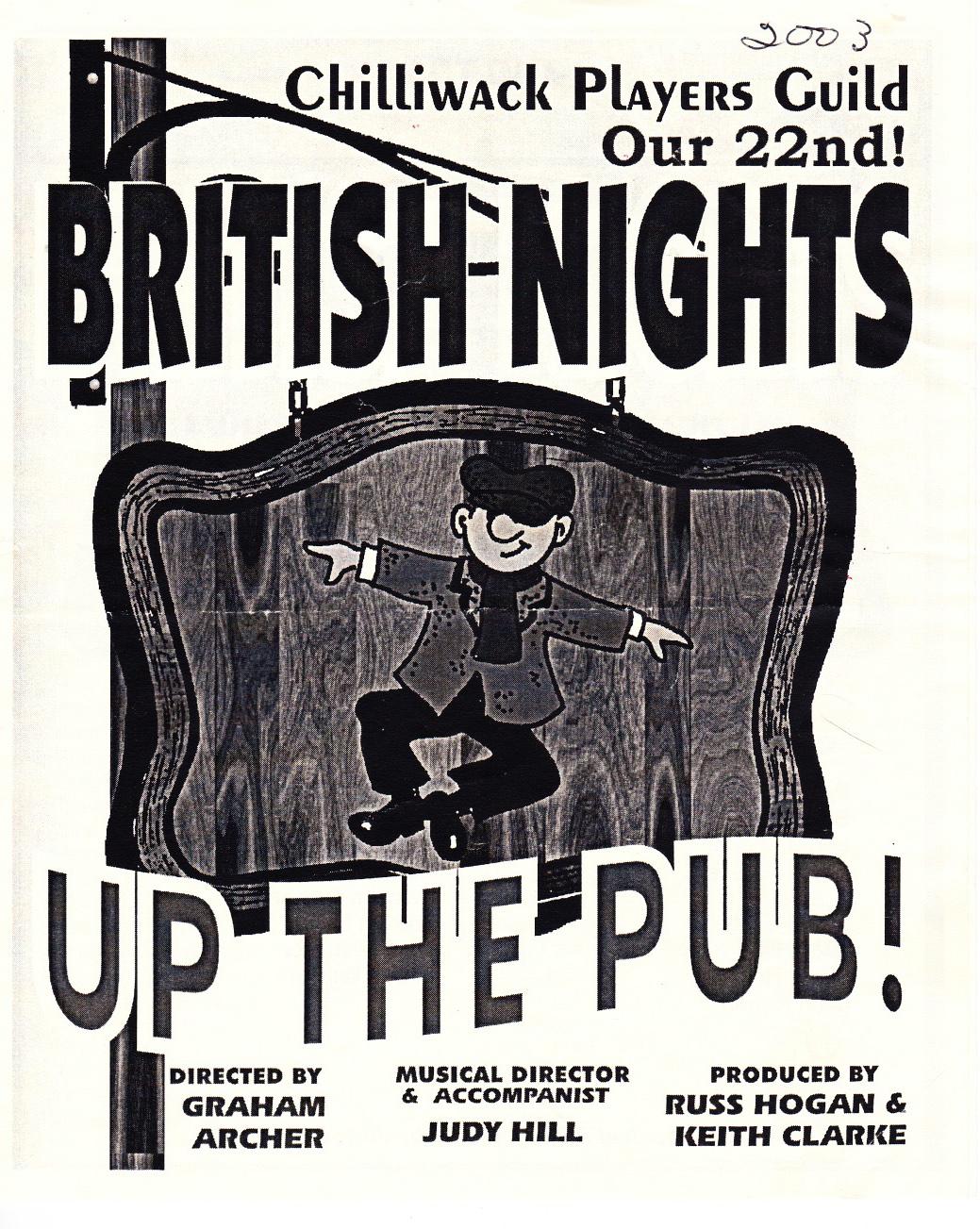Up the Pub -- British Night 2003